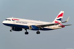 G-EUYR (Andras Regos) Tags: aviation aircraft plane fly airport bud lhbp landing spotter spotting britishairways airbus a320