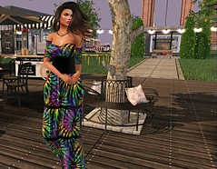 Calm afternoon (kare Karas) Tags: woman lady femme girl girly sweet cute beauty pretty soul afternoon calm town park colors gown jewelry hud mesh bento event secondlife april spring zfg swankevent jumo