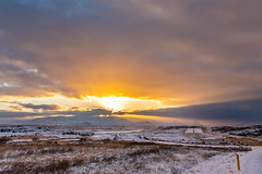 Borgarfjordur Iceland (Einar Schioth) Tags: borgarfjordur road day vividstriking winter sky sunshine snow sun sunset sigma sigma2470 canon clouds cloud grass grassland nordurardalur mountains mountain landscape photo picture outdoor iceland ísland ice einarschioth
