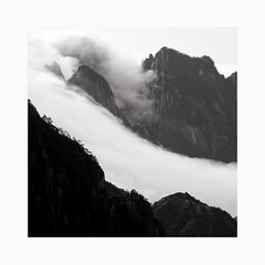 Gravity (Frans van Hoogstraten) Tags: huangshanmountain landscapephotography clouds abstract mountain blackandwhite blackwhite china