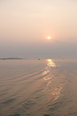 Near sunset at Tamsui (theq629) Tags: taiwan tamsui water river ocean sun