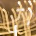 Licht-Zeichnung durch Feuerwerk, fotografiert mit langer Belichtungszeit