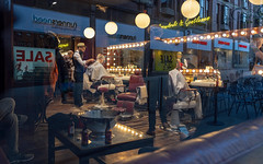 Leeds (The.Grim.North) Tags: street photography urban candid leeds dof bokeh work hair reflections yorkshire wide fisheye fujifilm xt3 fujinon 富士フイルム fujinonlens fujifilmxseries colour lensblr england uk light window