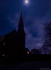 cold night sky (Rourkeor) Tags: mzuikodigitaled12100mm140ispro omdem1markii olympus cold longexposure m43 mft microfourthirds moon night nightshot silhouette sky stars steeple winter