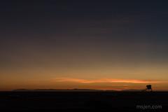 Catalina Island and a Lifeguard Tower, as Seen from Huntington Beach (Ms. Jen) Tags: 2019 2470mmzoomlens california catalinaisland d850 huntingtonbeach huntingtonbeachstatepark january january2019 nikonafs2470mmf28eedvrlens nikond850 photobyjeniferhanen aftersunset beach clouds dusk lifeguardtower msjencom sky twilight