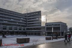 city hall Pforzheim (in explore - February, 3rd 2019) (Steffi.K.) Tags: rot pforzheim rathaus cityhall snow city house germany badenwürttemberg