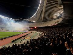 Olympic Stadium Athens (cherac) Tags: salatbäume athen panathinaikos aek stadion