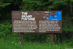 Interpretive board on Old Highway 61 (FlappinMothra) Tags: grand portage national monument voyageurs north west company fur trade history minnesota minn mn pentax ks2 photography