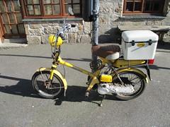 1981 Honda City Express (occama) Tags: pkm103w 1981 honda city express old moped yellow cornwall uk use sun