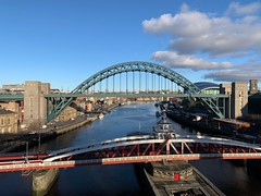 three bridges (mistdog) Tags: newcastle tyneside photoscapex bridges river tyne swing millennium