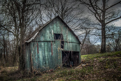 The Old Shed's Last Days? (donnieking1811) Tags: tennessee cookeville shed barn dilapidated decay rustic exterior outdoors trees sky clouds hdr canon 60d lightroom photomatixpro