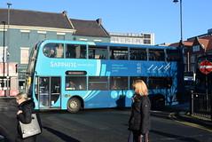 ANE 7501 @ Newcastle-upon-Tyne Eldon Square/Haymarket bus station (ianjpoole) Tags: arriva north east alexander dennis enviro 400 nk57dzz 7501 working sapphire route 43 newcastleupontyne haymarket bus station morpeth