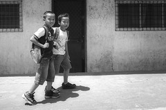 This is Silay (Beegee49) Tags: boys friends street blackandwhite monochrome happy planet luminar bw sony silay city philippines asia a6000