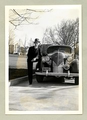 "1936 Buick Eight (Vintage Cars & People) Tags: vintage us usa america vintageusa classic black white ""blackwhite"" sw photo foto photography automobile car cars motor vehicle antique auto fellow chap bloke suit pinstripesuit fedora fashion 1936 buick 1936buick 1930s thirties"