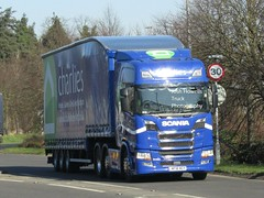 Charlies Stores MF18 NGY at Welshpool (Joshhowells27) Tags: lorry truck scania r450 scaniar450 doubledeck curtainsider charliesstores mf18ngy