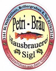 Austria - Petri Bräu (St. Veit an der Gölsen) (cigpack.at) Tags: austria österreich petribräu hausbrauereisigl stveitandergölsen bier beer brauerei brewery label etikett bierflasche bieretikett flaschenetikett