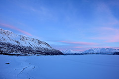 Sunset and mountains in Alaska (Yu Takada) Tags: sunset mountain alaska white lake sky cloud