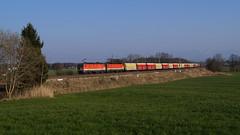 1144 (2x) / ÖBB - Rann (lukasrothmann) Tags: bayern oberbayern heimat trains train zug lok lokomotive 1144 rocktainer öbb doppeltraktion rann