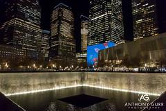9/11 Memorial at Night, New York City, USA (AnthonyGurr) Tags: newyork newyorkcity nyc thebigapple america usa unitedstates 911 september112001 memorial night lowlight anthonygurr manhattan city
