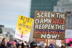 Woman's March 2019 (Lynn Friedman) Tags: government thewall signs womansmarch politics gender equality resistance sanfrancisco california usa 94102