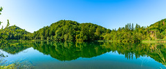 Plitvice-National-Park-lake-reflections.jpg (yobelprize) Tags: landscape calm nature water yobelmuchang panorama clear trees national panoramic croatia reflections outdoors still sky park plitvice yobel reflection lakes plitvicaselo ličkosenjskažupanija hr