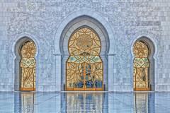 three doors (gerla photo-works) Tags: abudhabi sheikhzayedmosque ornament tür door art mirror