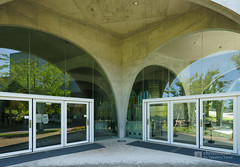Entrance of Tama Art University, library (多摩美術大学図書館) (christinayan01 (busy)) Tags: japan tokyo architecture building perspective library