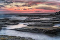 Running on Empty DSC_2818 (BlueberryAsh) Tags: sunset pointroadknight torquay stormscloudssunsetsunrise water ocean seascape australia greatoceanrd clouds pink rocky shore coast coastline victorian nikon nikond750 nikon24120