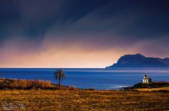 a la sortie ouest de ténès (Rachid HAKKA) Tags: d7000 fevrier2019 mountain montagne mer sea seashore seascape landsacpe paysage sky ciel clouds plage palm palmier bleu nlue algeria northaafrica