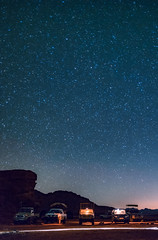 Stargazing in Wadi Rum. (Matthias Dengler || www.snapshopped.com) Tags: wadi rum jordan desert star stars jeep tour camp camping medley bedouin matthias dengler snapshopped night evening light jordanien travel explore create discover sand rocks