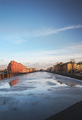 Fontanka (KAS_85_) Tags: saintpetersburg canon tokina city river ice 550d 1116 landscape water snow sky clouds perspective russia europe outside outdoor hdr