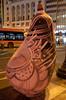 Aubergine [Valencia - 28 January 2019] (Doc. Ing.) Tags: 2019 nikond5100 valencia hortadevalència comunitatvalenciana comunidadvalenciana spain hortattack art sculpture installation bynight nighttime night plazadelayuntamiento