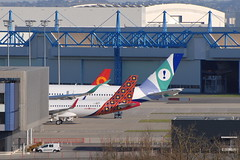 Airbus tails (eigjb) Tags: airbus jet airliner lfbo toulouse blagnac airport international 2019 plane spotting aircraft aeroplane airplane aviation a320 a350 batik air evelop airlines chengdu ecnbo fwwip