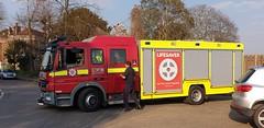 London Fire Brigade, Heston's... Mercedes 1325, Fire Rescue Unit. AE57 FNF (standhisround) Tags: firerescue isleworth westlondon londonfirebrigade lfb rescueunit lorry appliance england emergency 999 heston fru26 ae57fnf mercedes fire