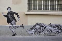 Levalet_1234 passage Saint Sébastien Paris 11 (meuh1246) Tags: streetart paris levalet passagesaintsébastien paris11 chien animaux chapeau fli