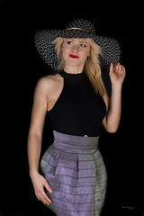 Ania (piotr_szymanek) Tags: ania aniaz woman young skinny portrait studio face hat eyesoncamera blonde longhair 1k 20f