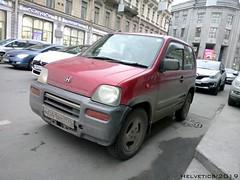 Honda Z - Russia, Saint-Petersburg (Helvetics_VS) Tags: licenseplate russia stpetersburg oldcars honda z