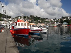 Carenage Harbour St George's Grenada (woodytyke) Tags: cruise holiday cruising ship west indies caribbean 2018 boat island vacation tui marella explorer sea sand blue sky hot weather beach building photo best photography woodytyke stephen woodcock scene scenic history ocean colour