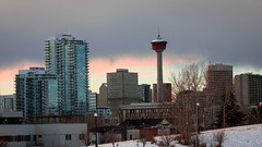 Tower and Clouds (Jacques P Raymond) Tags: alberta calgary cityhall buildings skyline tower winter canada