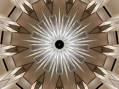 Red Dot (Kombizz) Tags: c41 kombizz kaleidoscope experimentalart experimentalphotoart photoart epa samsung samsunggalaxy fx abstract pattern art artwork geometricart reddot brown white gray black
