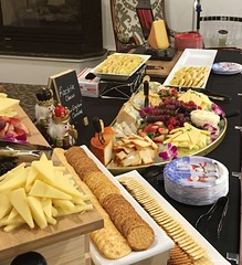 (cafe_services_inc) Tags: cafeservicesinc glendaleseniordining goldenpond holidayparty holiday2018 chefsteve newenglandcheddar cheese raclettecheese crackers grapes berries cheeseboard cheeseplatter
