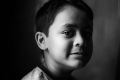 Rosh (|MBS-..|) Tags: fujifilm 50mm monochrome portrait natural light radioactive personality power child actor