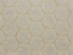 Dodecagons (origami tessellation) (Michał Kosmulski) Tags: origami tessellation dodecagon michałkosmulski thaiunryupaper white cream