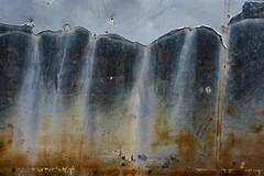 Lauterbrunnen (Katrina Wright) Tags: dsc3172 weathered rust dents scrape metal paint texture damage mountains waterfalls lauterbrunnen