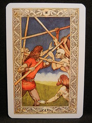 Five of Wands. (Oxford77) Tags: tarot thenorsetarot norse viking vikings cards card tarotcards