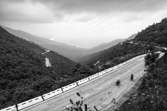 Easy rider and the Pass of Clouds (gambajo) Tags: pass road roadtrip bicycle bicycles street streetphotography vietnam asia mountains people adventure sea view landscape berge landschaft strase strasse