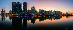 Dawn pano view from Pyrmont Bay (tony.liu.photography) Tags: dawn firstlight sunrise city skyscraper water landscape cityscape canon 5d4 1635lf4is panorama light nisi filter nd sydney nsw australia