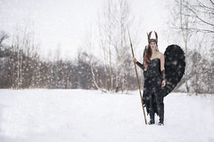 Valkyrie (MadMouseMan) Tags: portrait winter cosplay costume valkyrie woman angel viking mythology nord