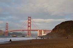 Baker Beach and Golden Gate Bridge (daveynin) Tags: shore shoreline pacificocean ocean beach nps california goldengatebridge bridge bay sand