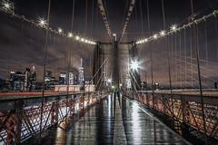 Brooklyn Drama (DarrenCowley) Tags: brooklyn rain storm reflection bridge architecture city skyline manhattan nyc